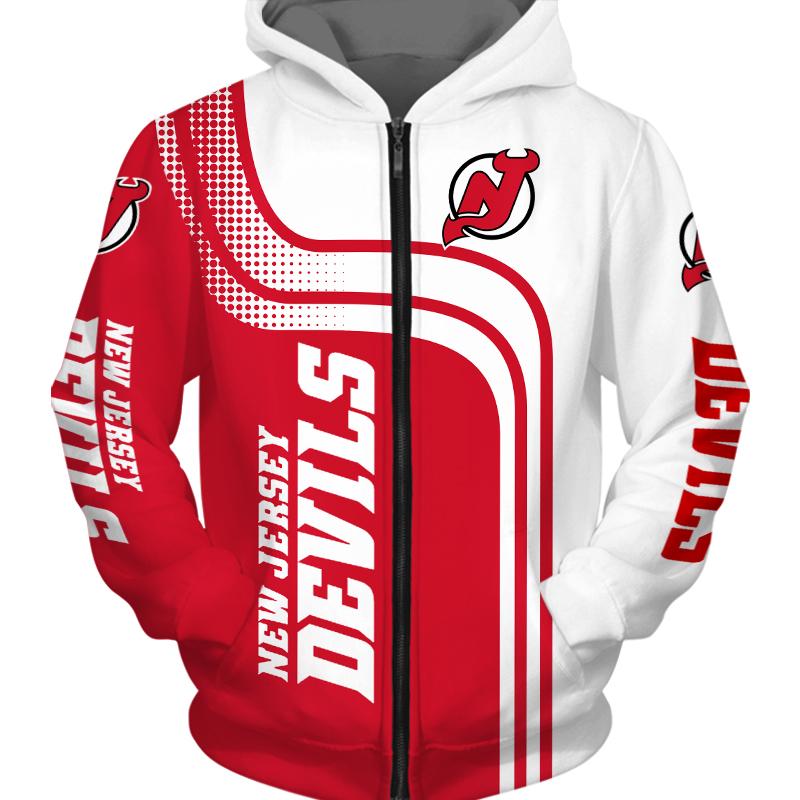 New Jersey Devils Zipper Hoodie