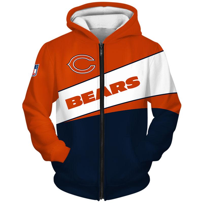 Chicago Bears-Zip-Hoodie
