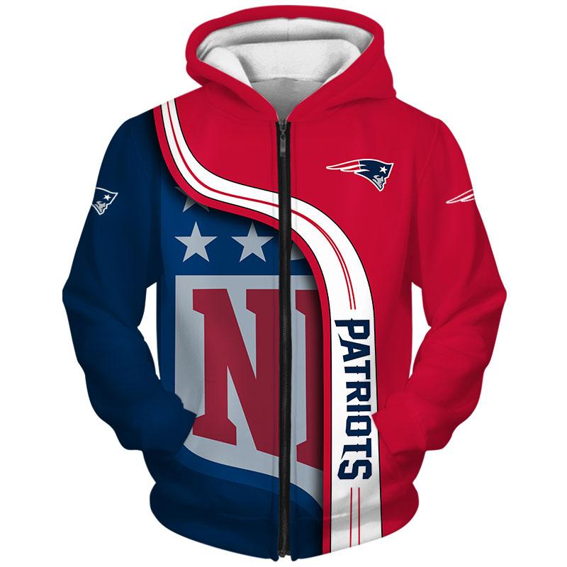 New England Patriots Zip-Hoodie