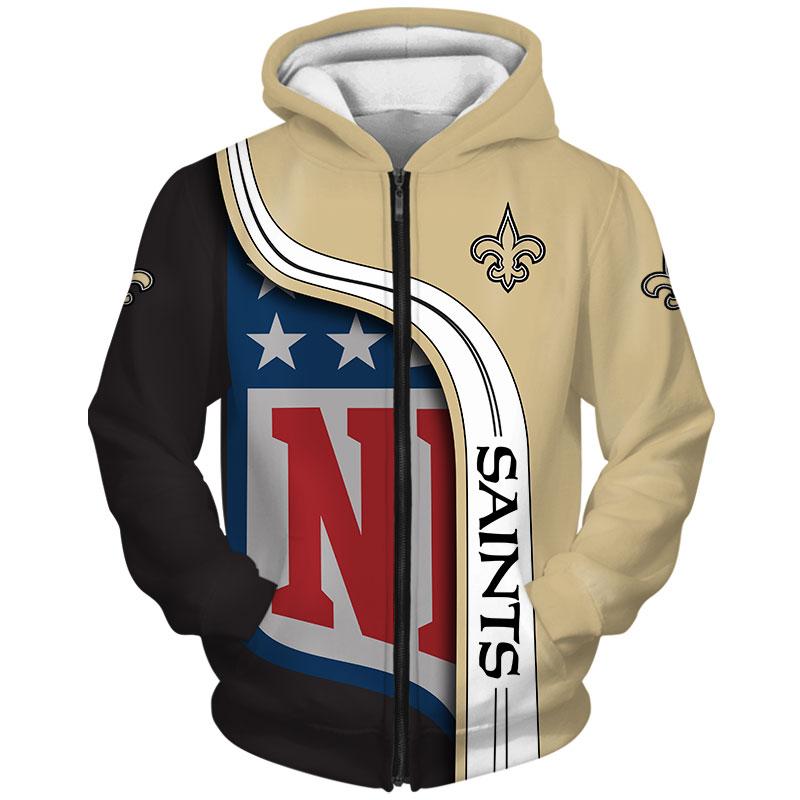 New Orleans Saints Zip-Hoodie