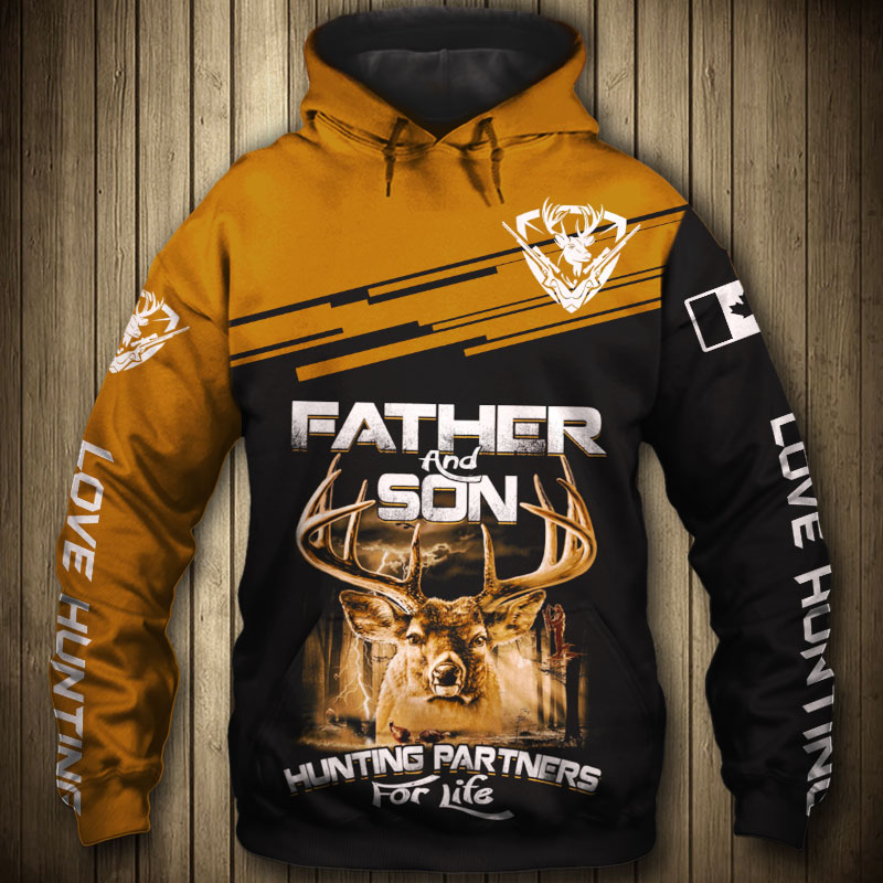 "Hunter deer ""Father & Son"" hoodie"