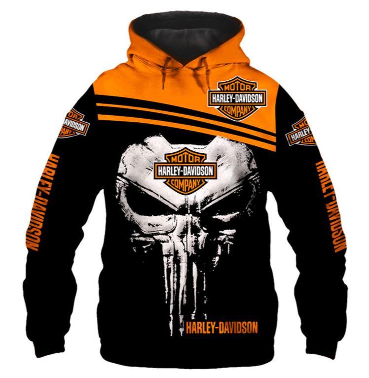 Harley Davidson Hoodies Skulls
