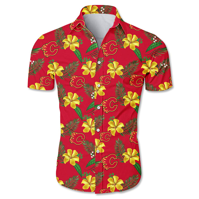 Calgary Flames Hawaiian Shirts