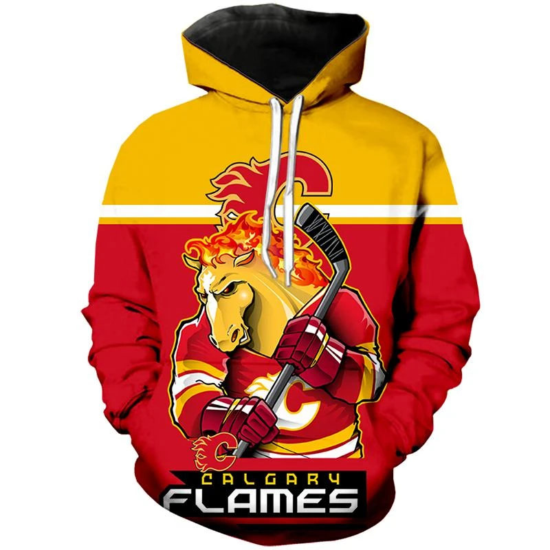 Calgary Flames Hoodie Mascot