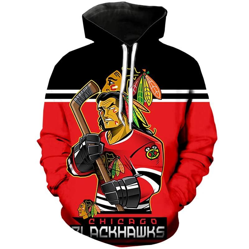 Chicago Blackhawks Hoodie Mascot