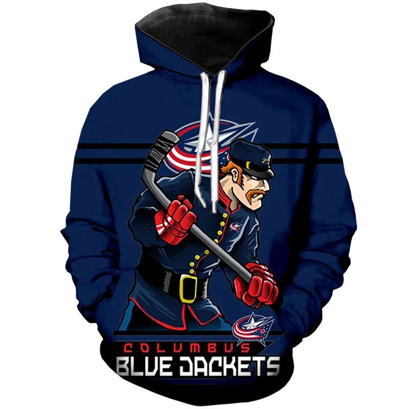 Columbus Blue Jackets Hoodie Mascot