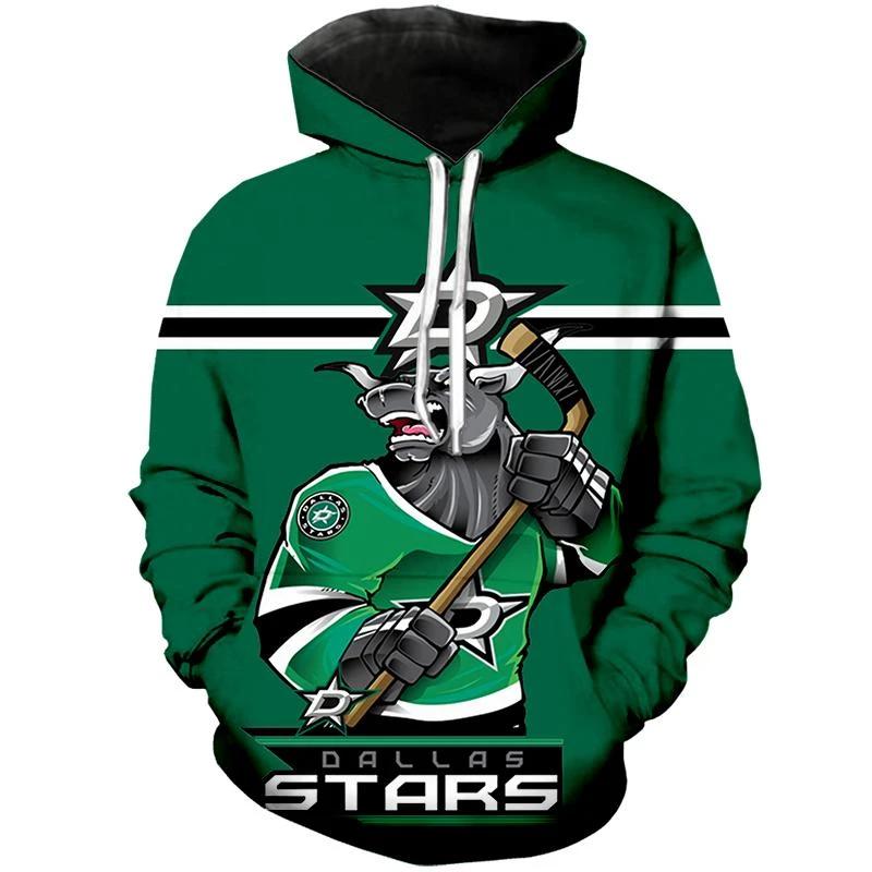 Dallas Stars Hoodie Mascot