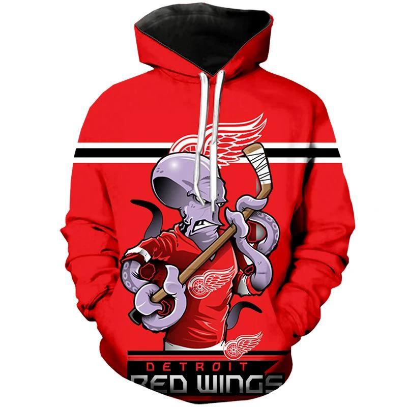 Detroit Red Wings Hoodie Mascot