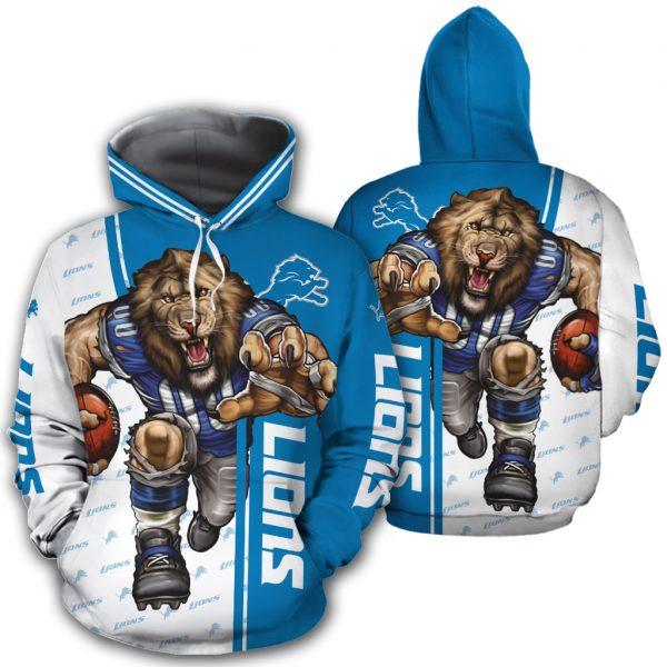 Detroit Lions Hoodies Mascot