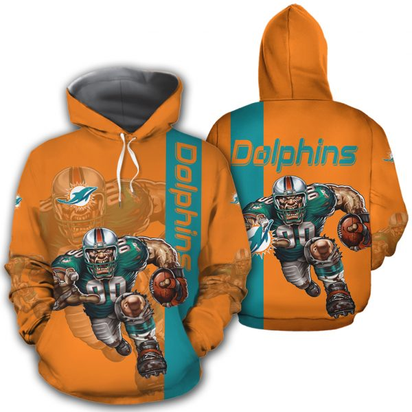 Miami Dolphins Hoodies Mascot