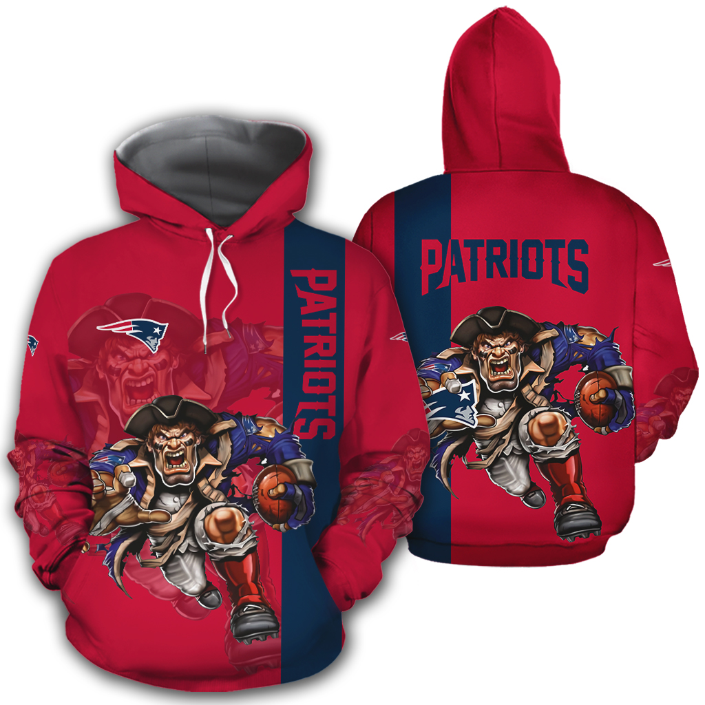 New England Patriots Hoodies Mascot