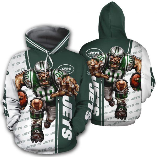 New York Jets Hoodies Mascot