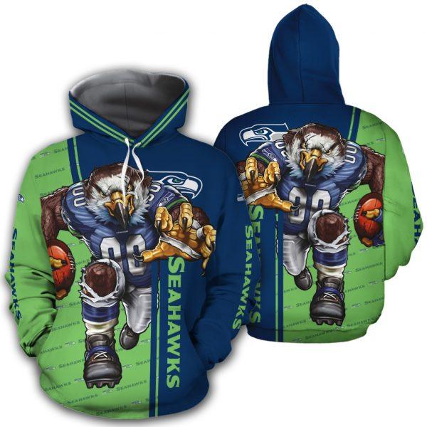 Seattle Seahawks Hoodie Mascot