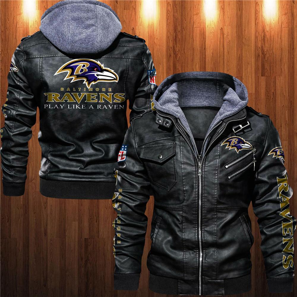 Baltimore Ravens Leather Jacket